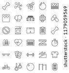 thin line vector icon set  ... | Shutterstock .eps vector #1179059569
