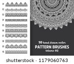 brush collection with mandala   Shutterstock .eps vector #1179060763