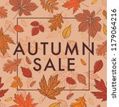 autumn sale. promotional poster ... | Shutterstock .eps vector #1179064216