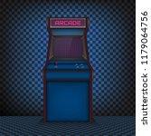 retro arcade game machine....