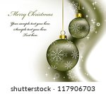 christmas background in eps10... | Shutterstock .eps vector #117906703