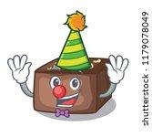 clown slice almond chocolate... | Shutterstock .eps vector #1179078049
