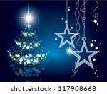 christmas background. vector. | Shutterstock .eps vector #117908668