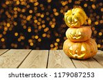 halloween background with jack... | Shutterstock . vector #1179087253