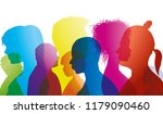 silhouette profiles of... | Shutterstock .eps vector #1179090460