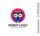 robot logo template | Shutterstock .eps vector #1179091630