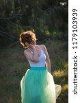 beautiful girl posing on the... | Shutterstock . vector #1179103939
