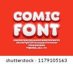 vector playful comic font. set... | Shutterstock .eps vector #1179105163