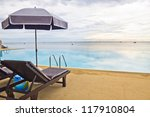 swimming pool and sun rise at... | Shutterstock . vector #117910804