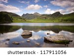 lake and mountains at blea tarn ... | Shutterstock . vector #117911056