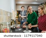 friends are preparing food for... | Shutterstock . vector #1179117340