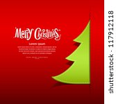 merry christmas paper green... | Shutterstock .eps vector #117912118