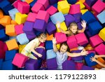 little smiling girls and... | Shutterstock . vector #1179122893