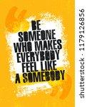 be someone who makes everyone... | Shutterstock .eps vector #1179126856