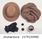 flat lay with stylish feminine... | Shutterstock . vector #1179134980