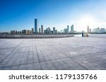 empty square with city skyline... | Shutterstock . vector #1179135766