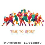 color sport background.... | Shutterstock .eps vector #1179138850