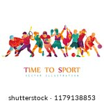 color sport background.... | Shutterstock .eps vector #1179138853