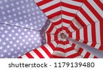 Beach Umbrella With American...