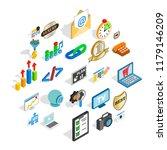 call icons set. isometric set... | Shutterstock .eps vector #1179146209