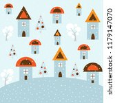 winter sale background  vector... | Shutterstock .eps vector #1179147070
