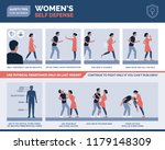 women's self defense advices ... | Shutterstock .eps vector #1179148309