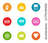 safe bet icons set. flat set of ... | Shutterstock .eps vector #1179150430