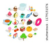 fish day icons set. isometric...   Shutterstock .eps vector #1179151576