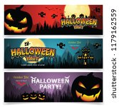set of three halloween banners.   Shutterstock .eps vector #1179162559