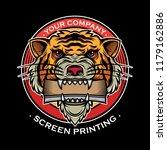 icon screen printing design ...   Shutterstock .eps vector #1179162886