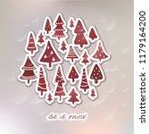 winter holidays banner design... | Shutterstock .eps vector #1179164200