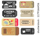 tickets  a large set of tickets ... | Shutterstock .eps vector #1179166456
