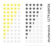 five stars ratings template.... | Shutterstock .eps vector #1179168436