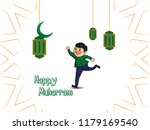 greeting cards of fasting the... | Shutterstock .eps vector #1179169540