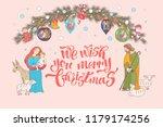 merry christmas. vector... | Shutterstock .eps vector #1179174256