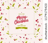merry christmas and happy new... | Shutterstock .eps vector #1179175423