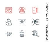 vector illustration of 9 data... | Shutterstock .eps vector #1179180280