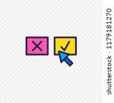 vector illustration of decision ... | Shutterstock .eps vector #1179181270