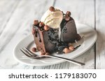 chocolate brownie with vanilla... | Shutterstock . vector #1179183070