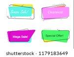 trendy banner flat design... | Shutterstock .eps vector #1179183649