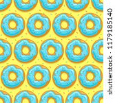 seamless background with donuts ... | Shutterstock . vector #1179185140