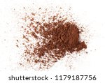cocoa powder pile isolated on... | Shutterstock . vector #1179187756