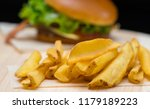 crispy golden deep fried potato ... | Shutterstock . vector #1179189223