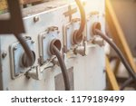 control panel with wiring | Shutterstock . vector #1179189499