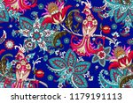 seamless pattern with... | Shutterstock .eps vector #1179191113