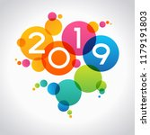 new year concept. color design... | Shutterstock .eps vector #1179191803