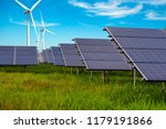 beautiful solar panels with... | Shutterstock . vector #1179191866