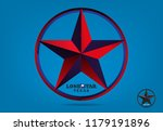 texas star with nickname the... | Shutterstock .eps vector #1179191896