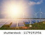 beautiful solar panels with... | Shutterstock . vector #1179191956