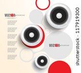 eps10 vector digital speaker... | Shutterstock .eps vector #117919300